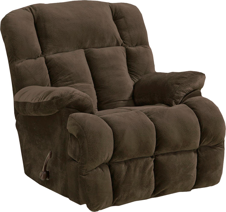 CatNapper Cloud 12 Chaise Rocker Recliner Chair - Chocolate