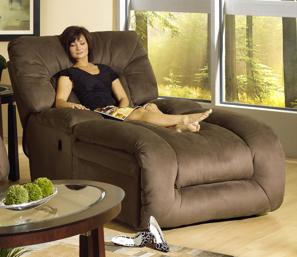 Catnapper jackpot reclining chaise cn 3989 at for Fabric reclining living room sets