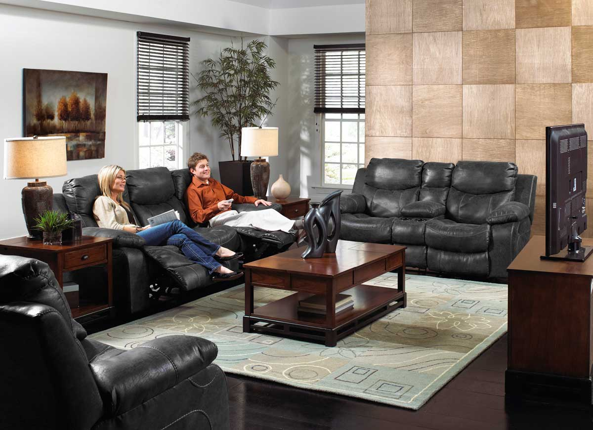 CatNapper Catalina Power Sofa Set - Steel