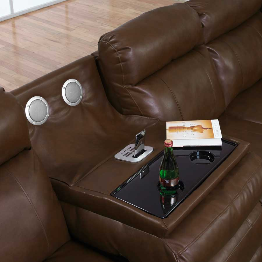catnapper leather sectional