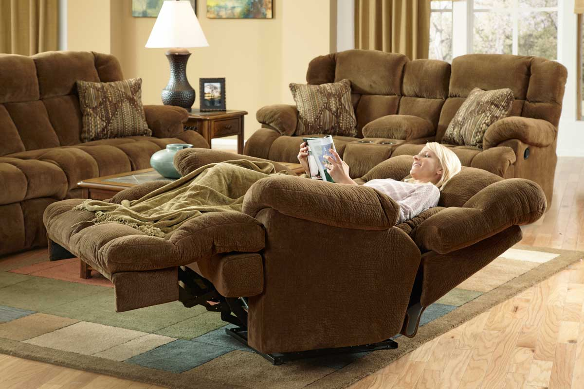 Catnapper Concord Lay Flat Reclining Sofa Set Cn Concord Sofa Set Pecan At