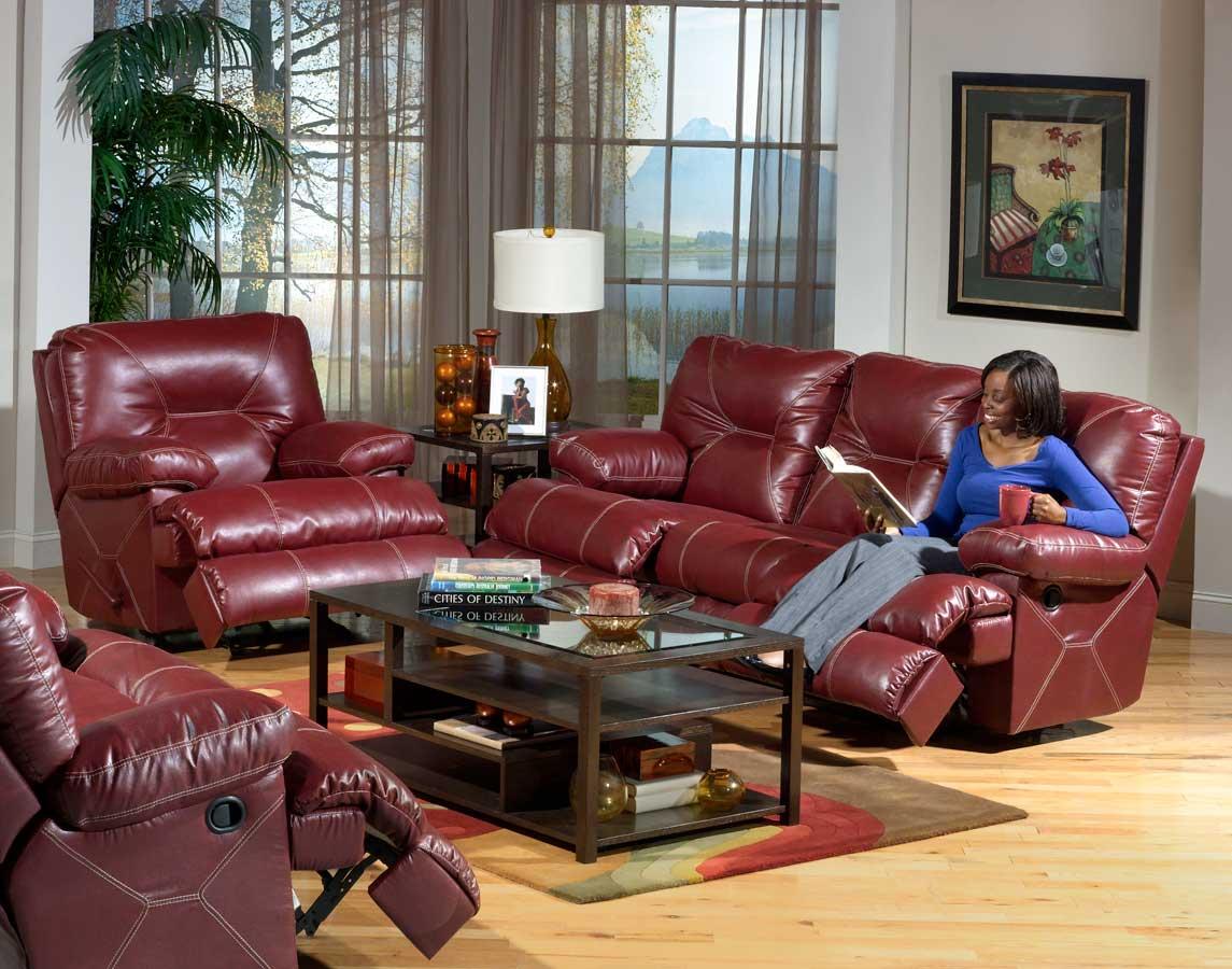 Catnapper Cortez Sofa Set Red Cn Cortez Sofa Set Red At