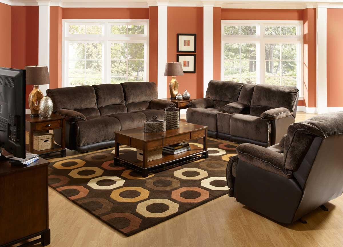 CatNapper Escalade Power Reclining Sofa Set Chocolate