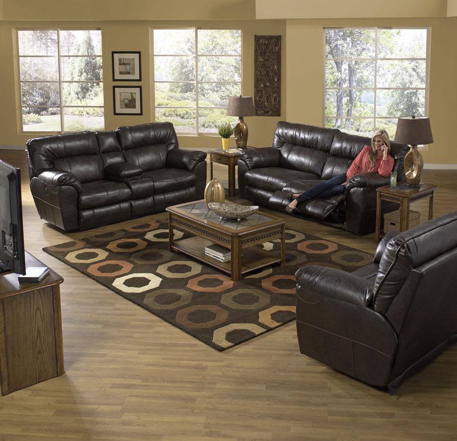 CatNapper Nolan Reclining Sofa Set - Godiva