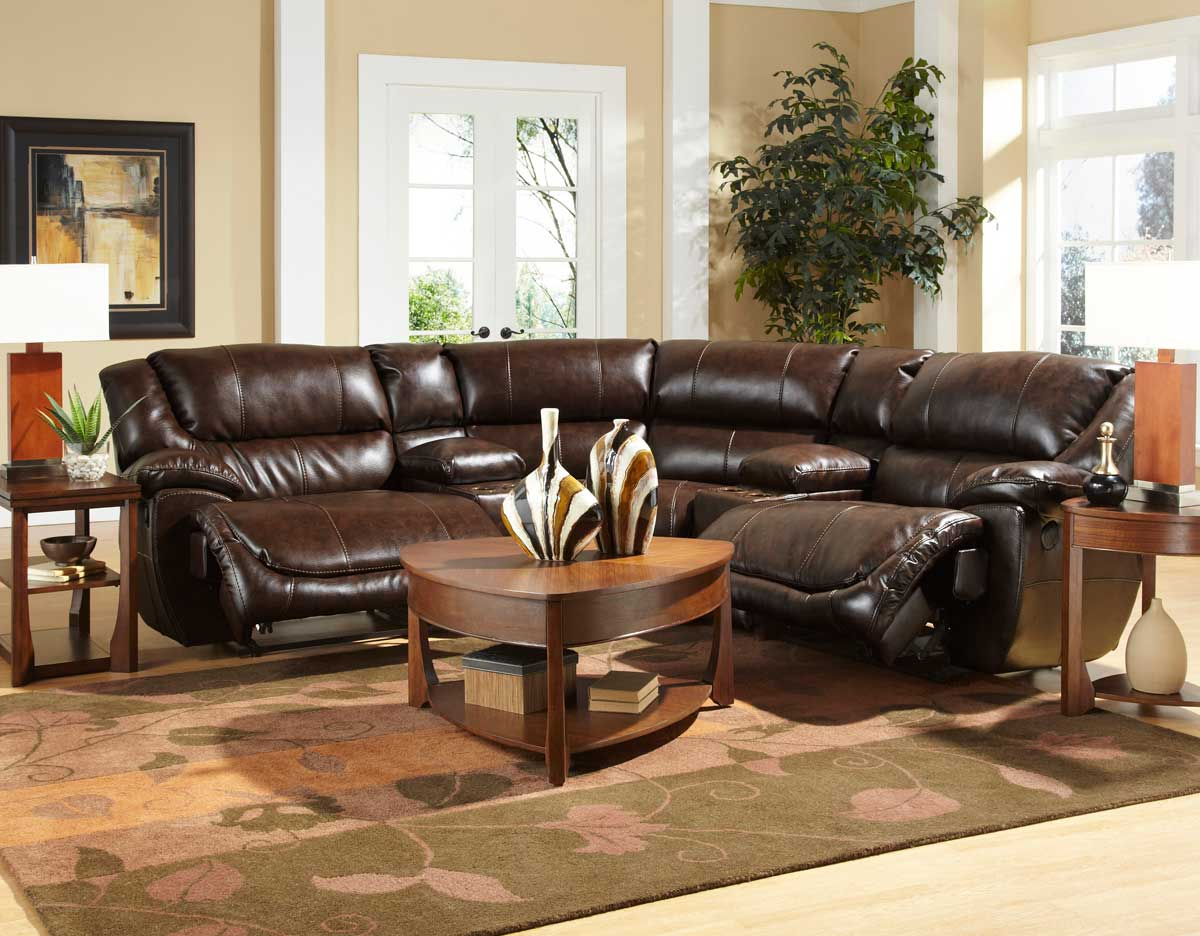 CatNapper Park Avenue Sectional Sofa Set B - Java