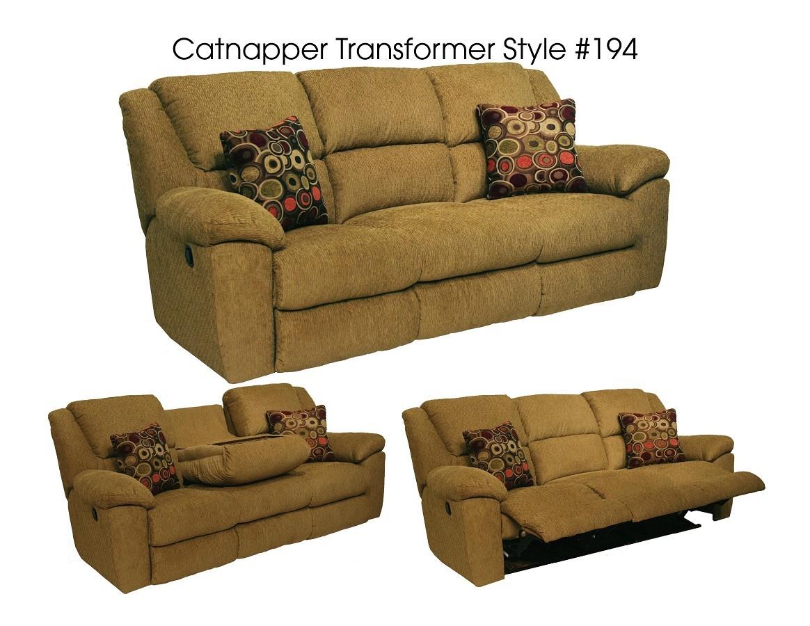 Catnapper Transformer Rocking Reclining Loveseat Beige