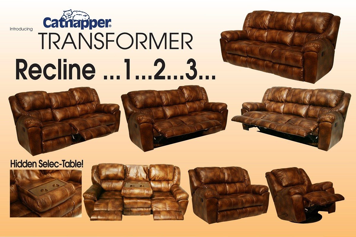 Catnapper Transformer Bonded Leather Rocking Reclining