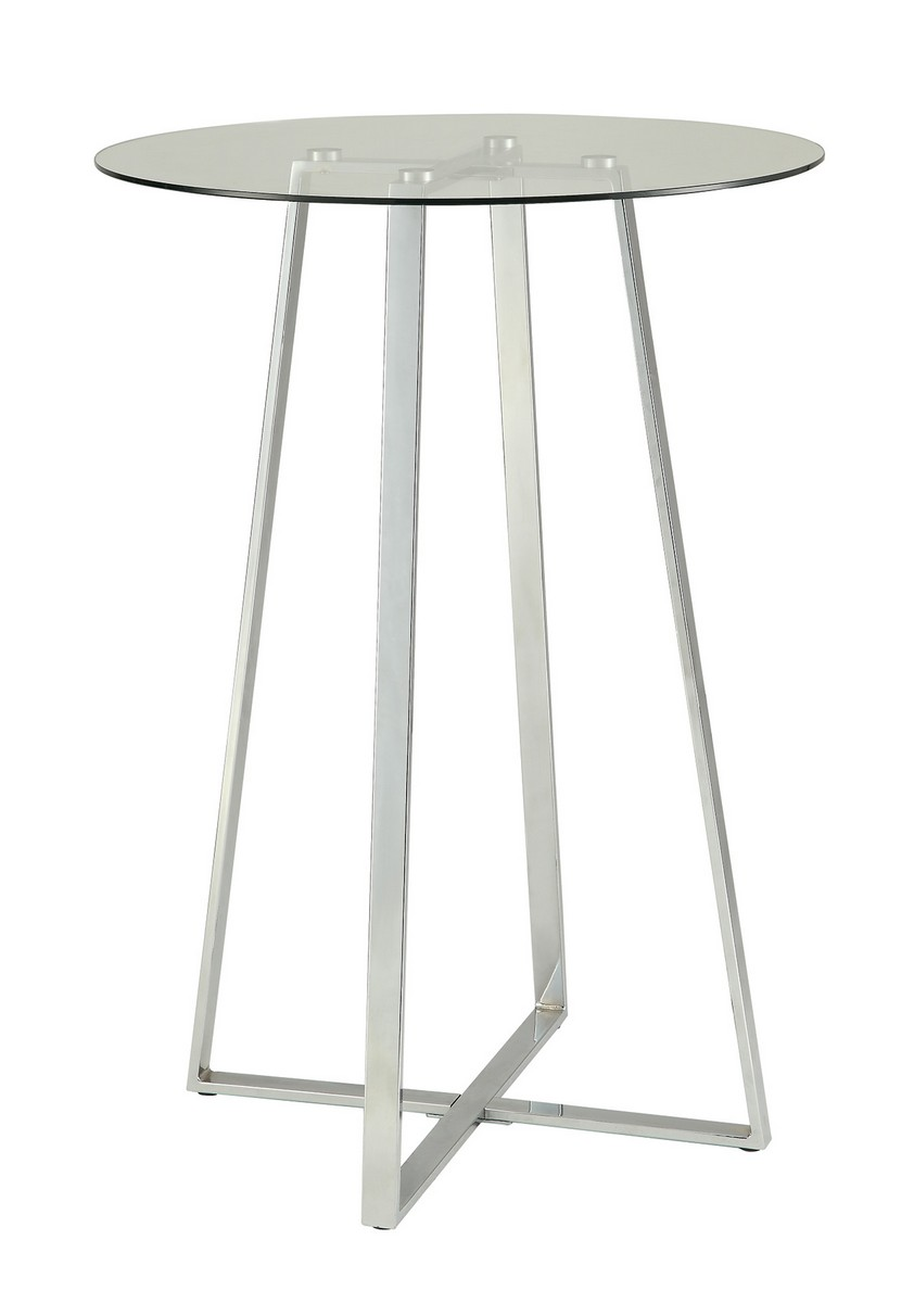 Coaster 100026 Bar Table - Chrome