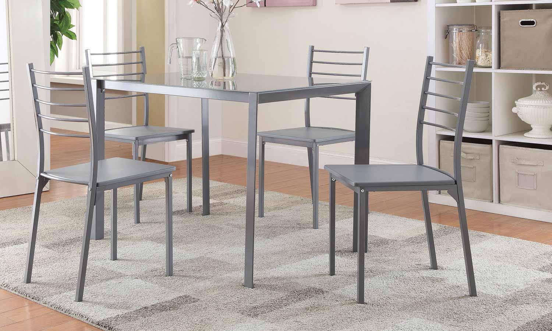Coaster 100027 5-Pc Dinette Set - Grey