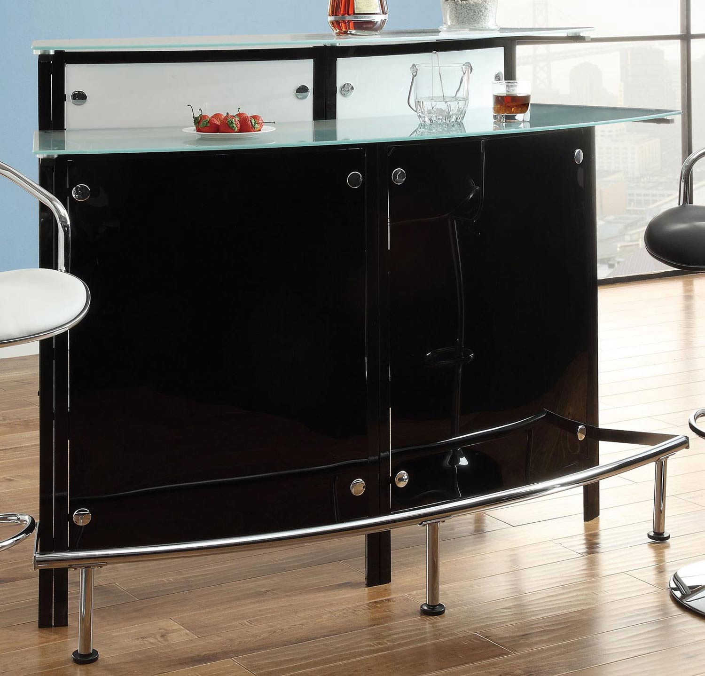 Coaster 100139 Bar Table - Chrome/Black