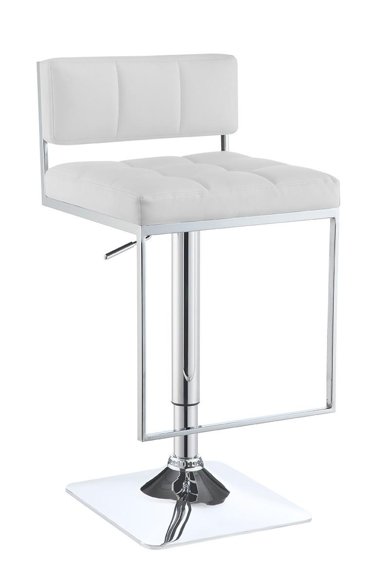 Coaster 100193 Adjustable Bar Stool - White/Chrome