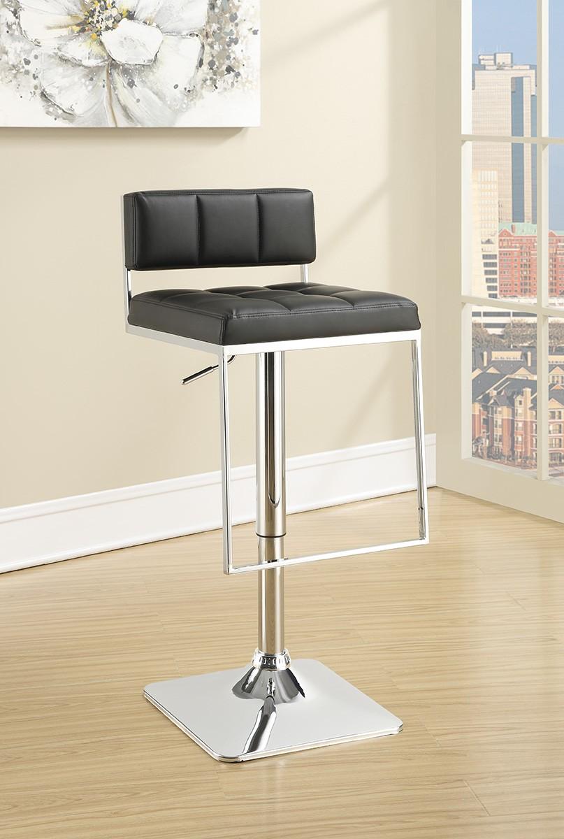 Coaster 100194 Adjustable Bar Stool - Black/Chrome