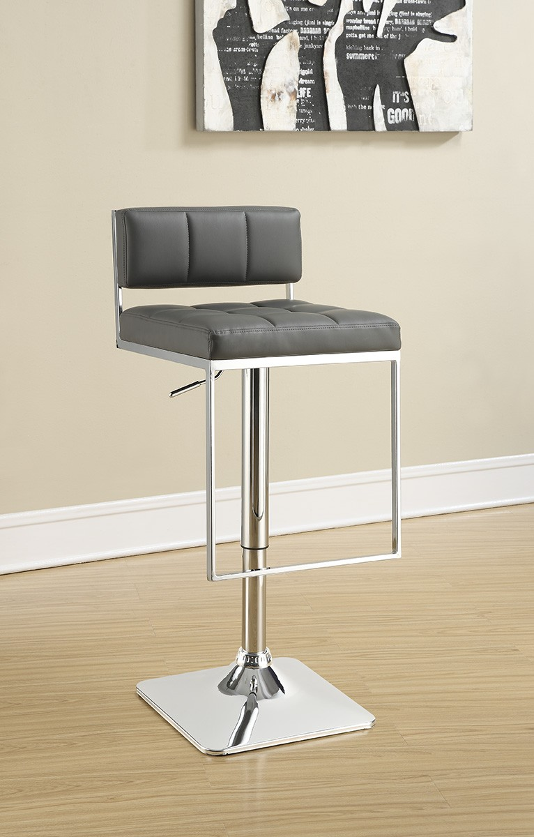 Coaster 100195 Adjustable Bar Stool - Grey/Chrome