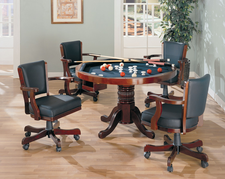 Coaster 100201 Game Table Set - Merlot