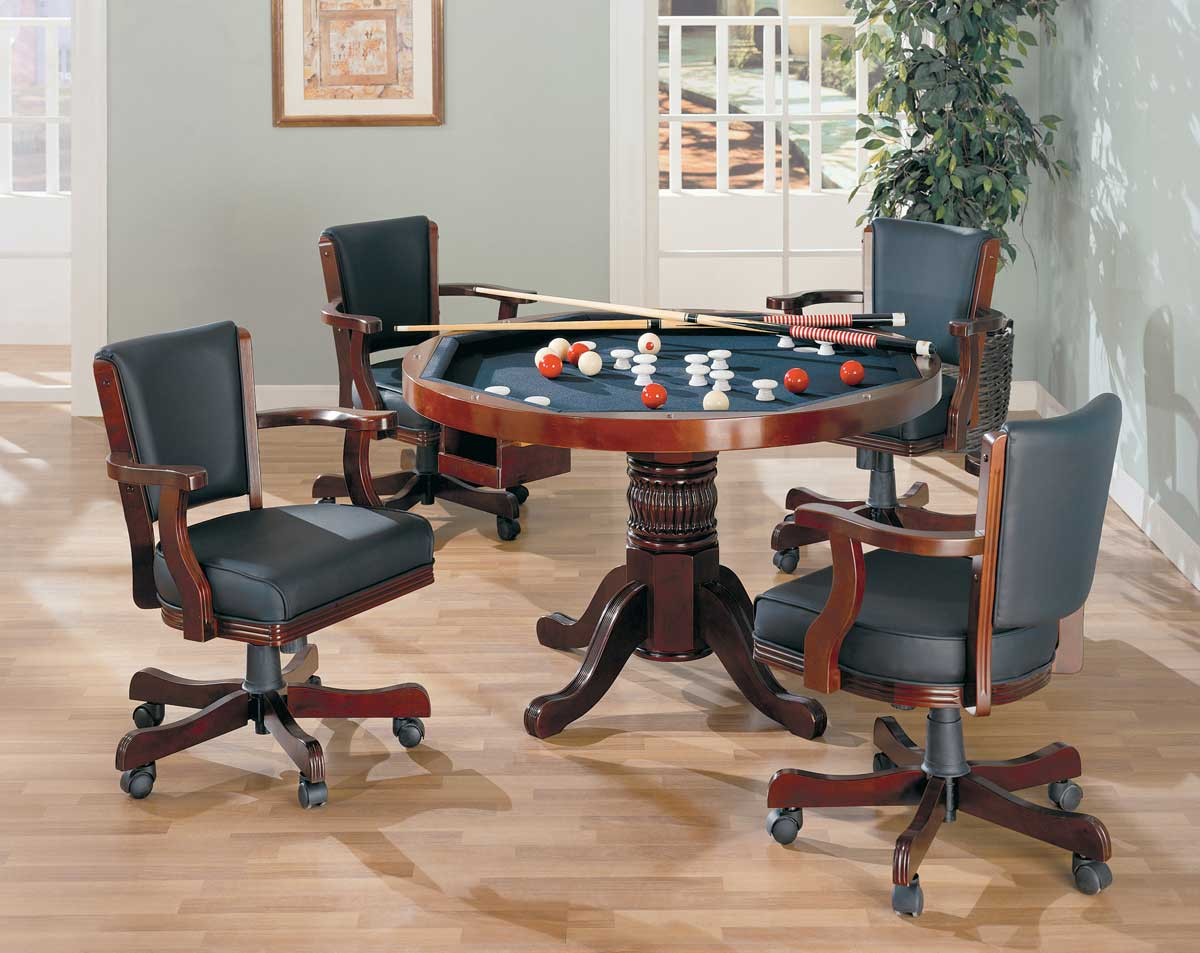 Coaster Mitchell 3-in-One Game Table Set - Cherry