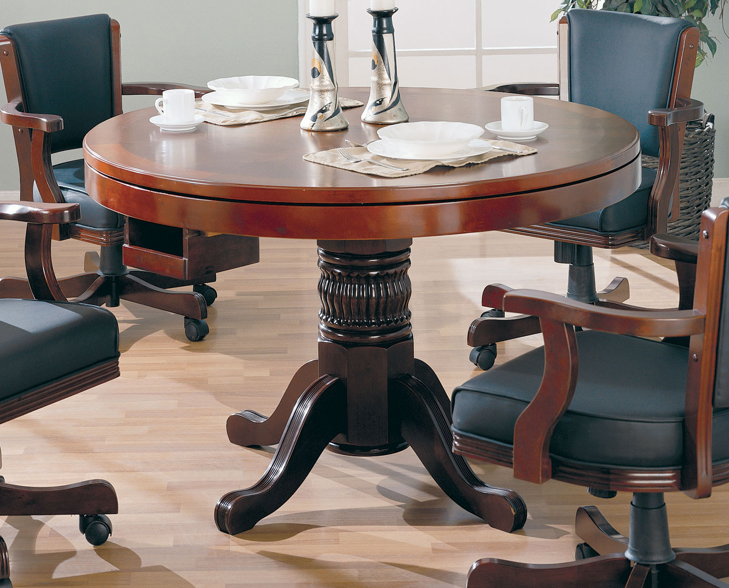 Coaster 100201 Game Table - Merlot