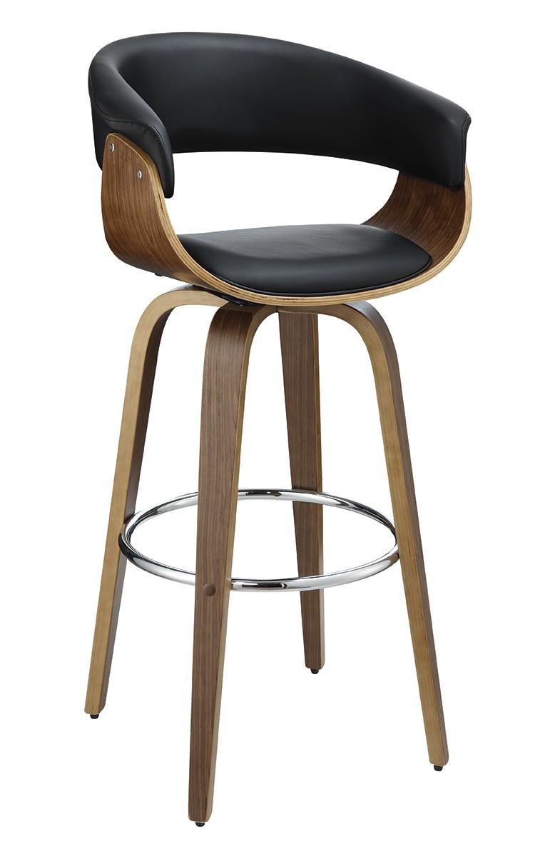 Coaster 100205 Bar Stool - Walnut/Black