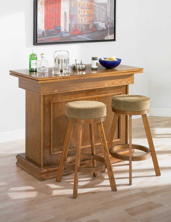 Coaster 100288-Bar-Set 100288 Bar Set - Oak