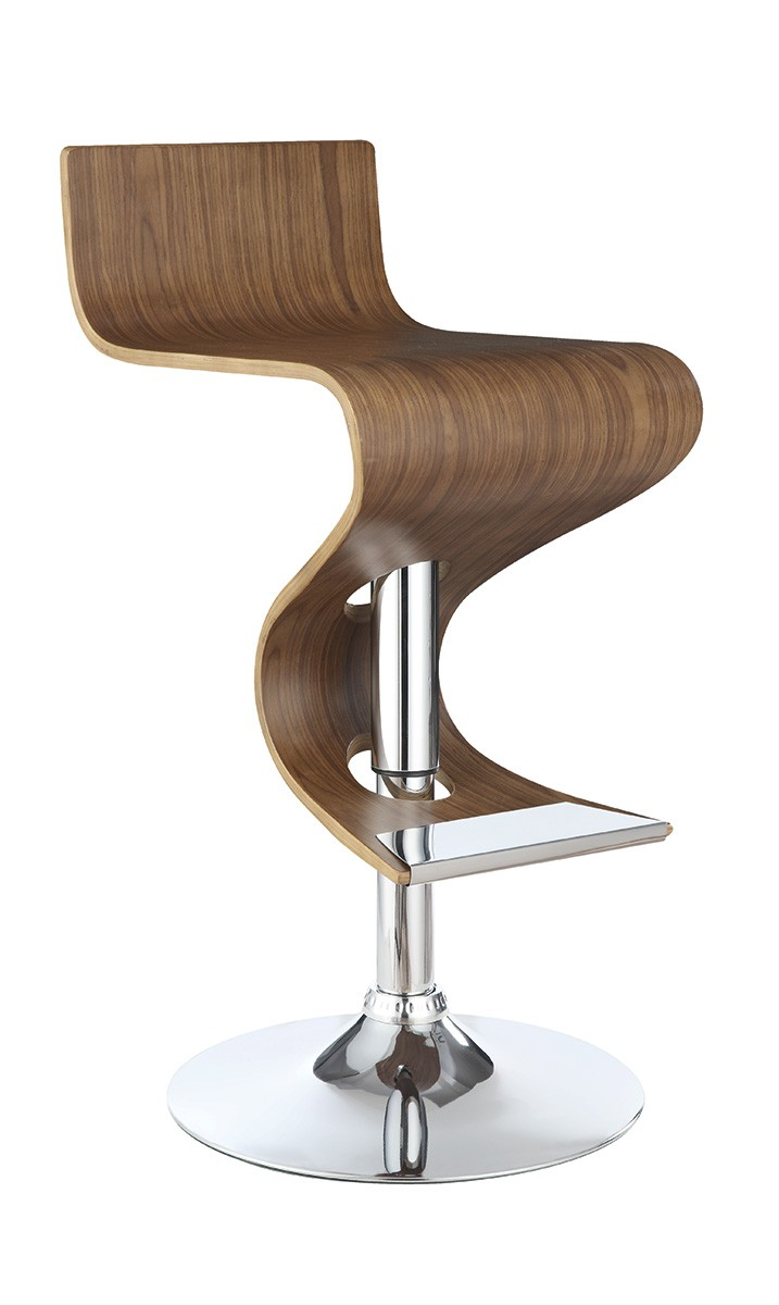 Coaster 100396 Adjustable Bar Stool - Walnut