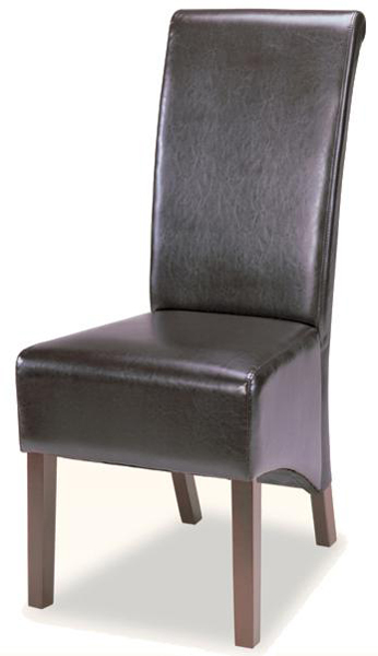 Coaster 100494 chair chocolate 100494cho at for High back parsons chair