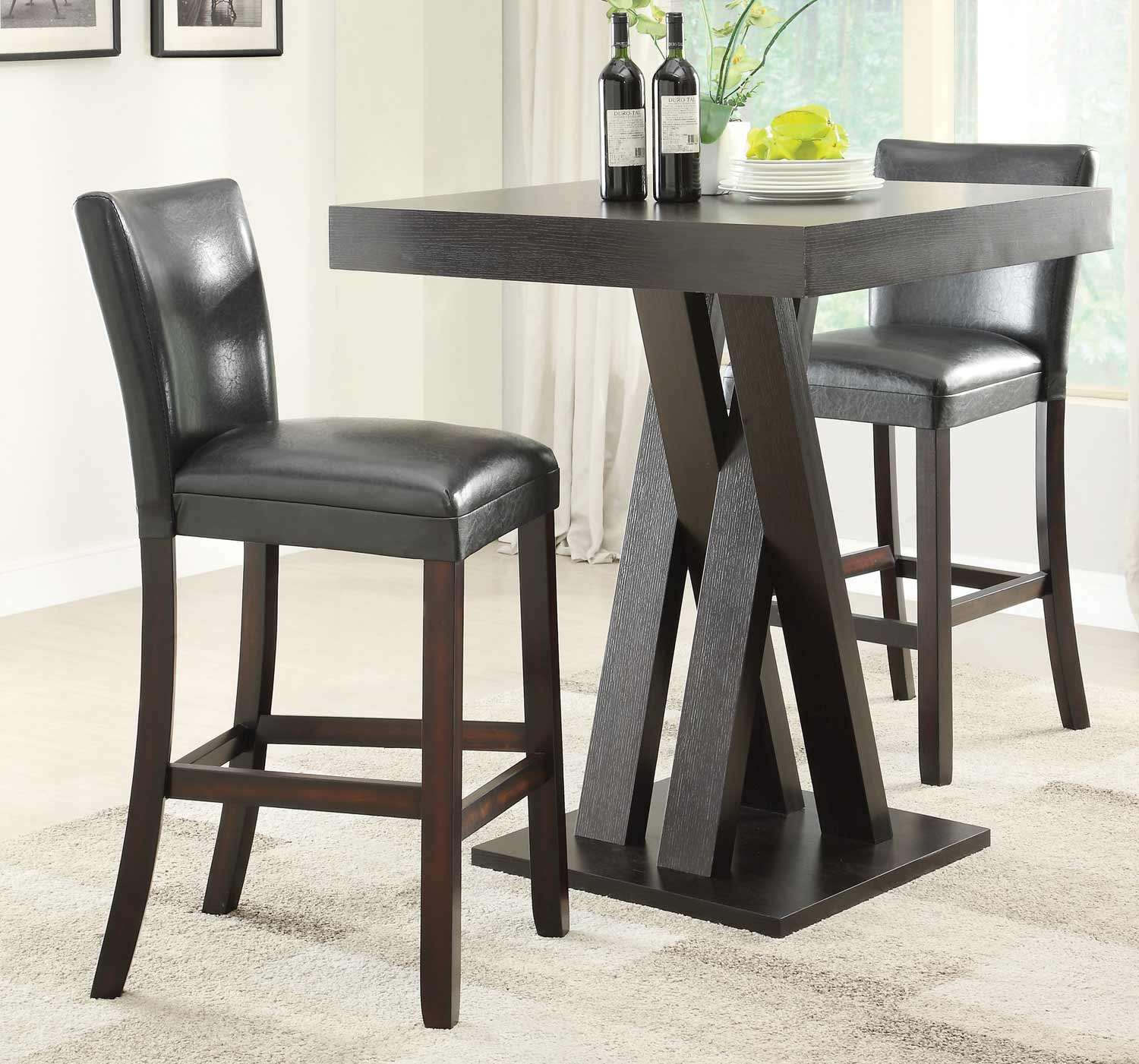 Bar Furniture Sets: Coaster 100520 Bar Table Set