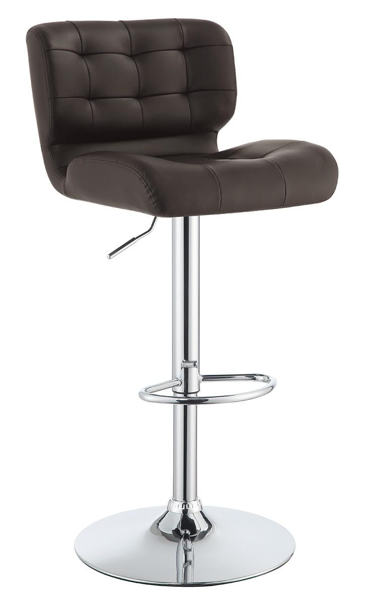 Coaster 100544 Adjustable Bar Stool - Chrome/Brown