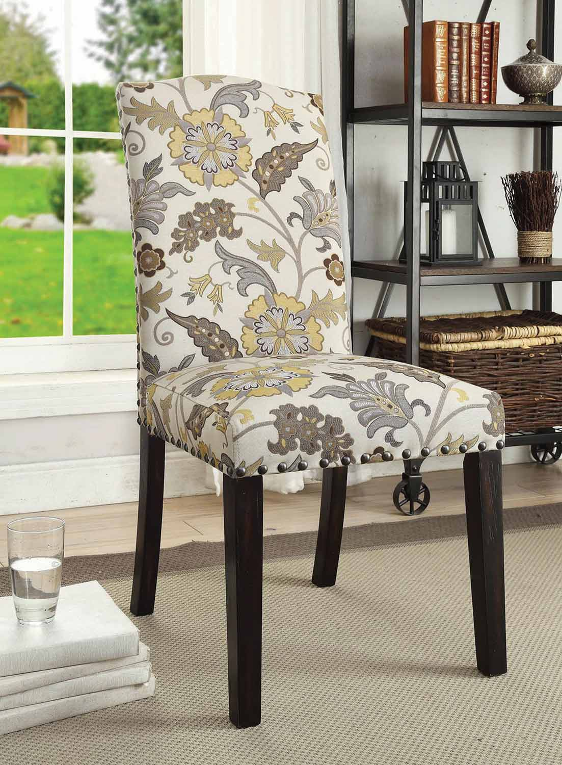 Coaster Matisse Side Chair   Cappuccino/Floral Pattern