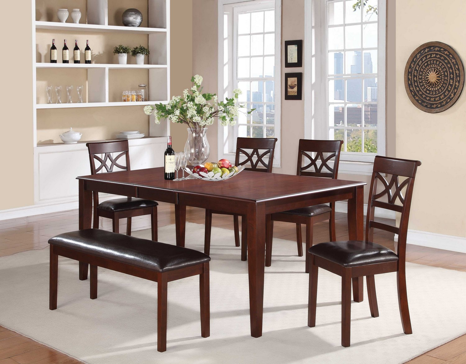 Coaster Dunham Dining Set - Brown Red