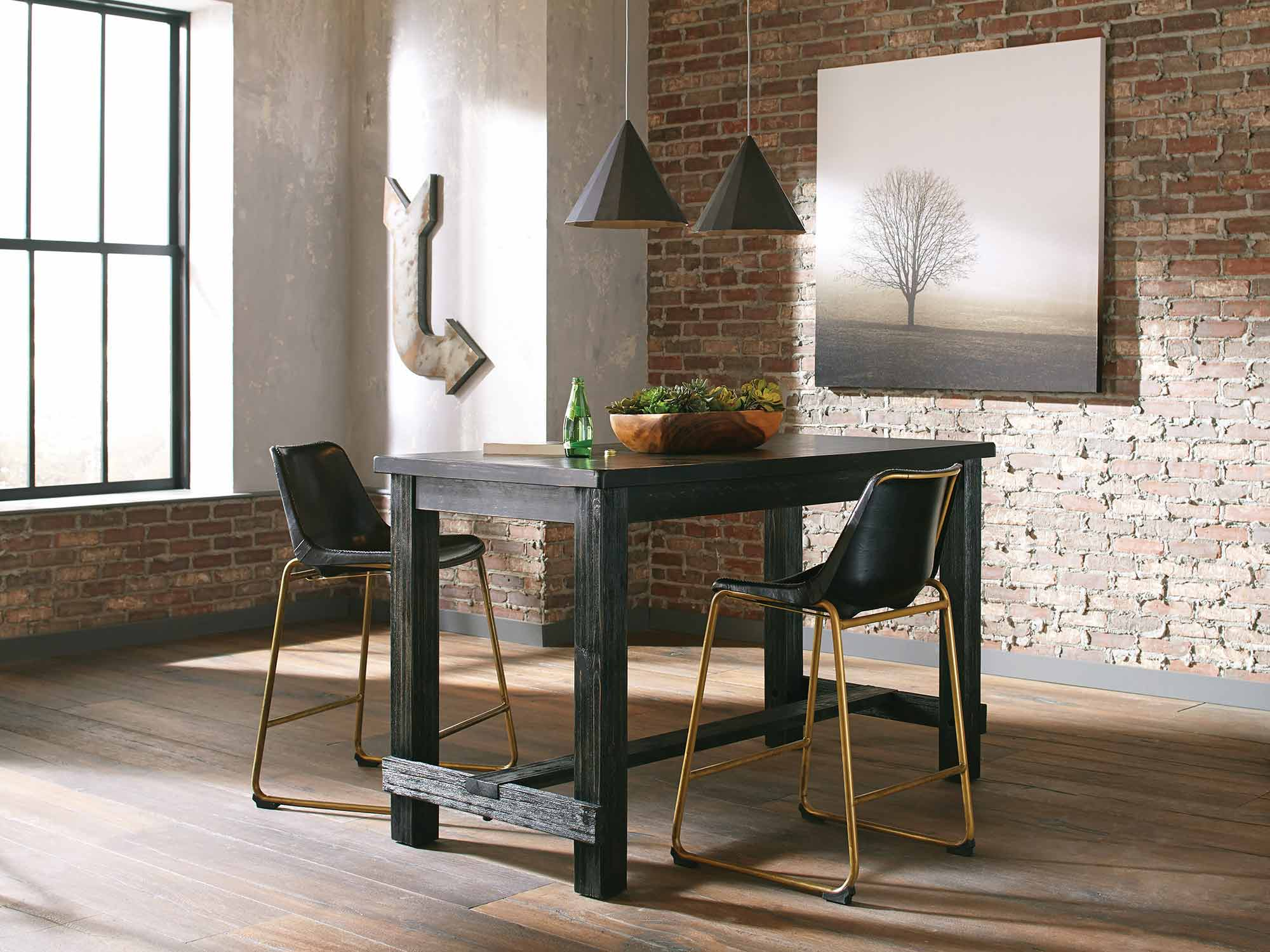 Coaster Bynum Counter Height Dining Set - Antique Black