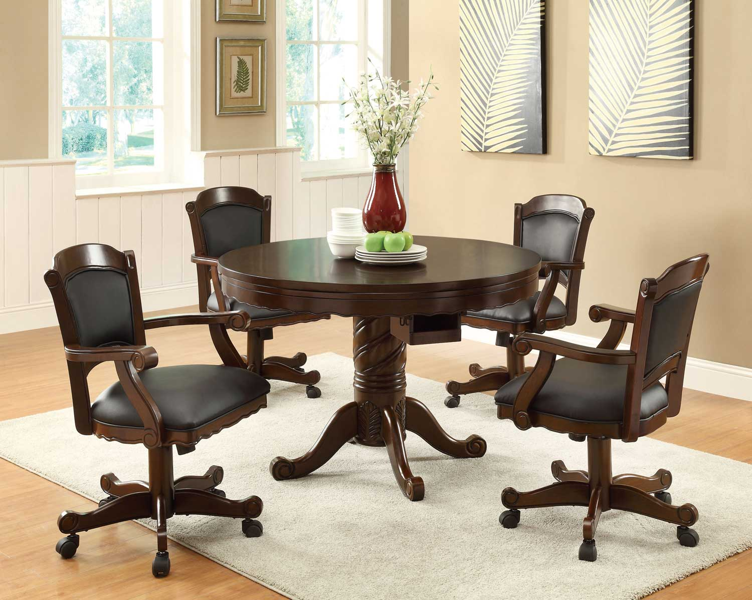 Coaster Turk 3-in-One Game Table Set - Cherry