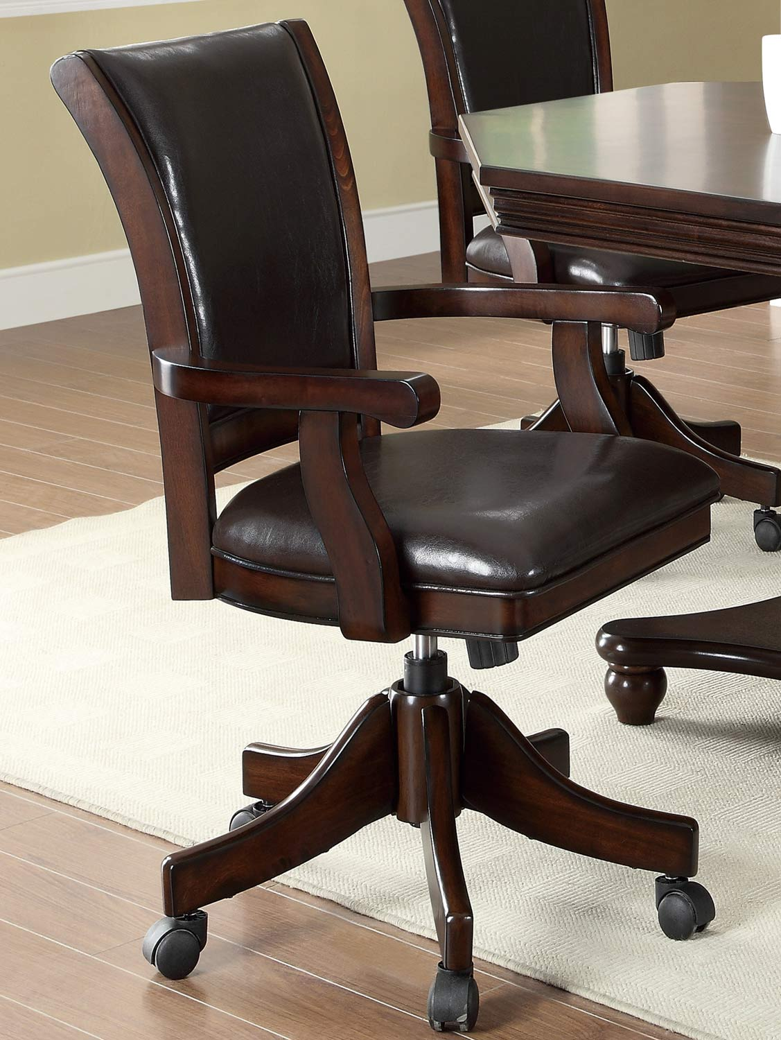 Coaster 100883 Game Chair - Mahogany