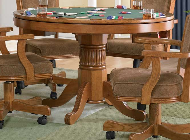 Coaster Mitchell 3-in-One Game Table - Oak