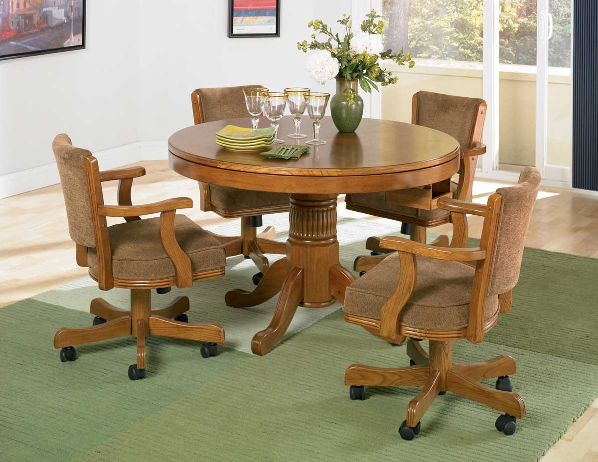 Coaster Mitchell 3-in-One Game Table Set - Oak