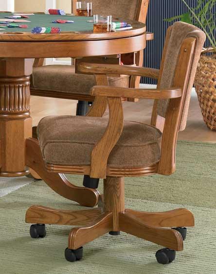 Coaster Mitchell Game Chair - Oak