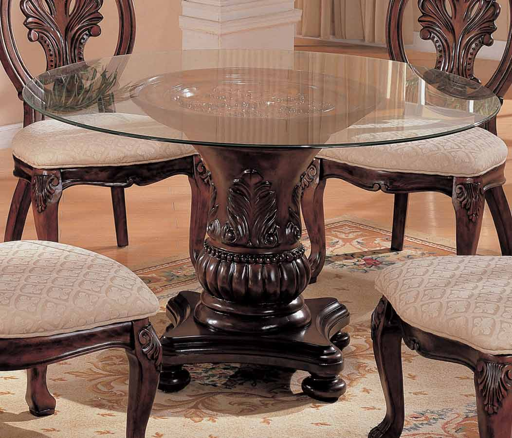 Coaster Tabitha Dark Round Pedestal Table 48 Inch