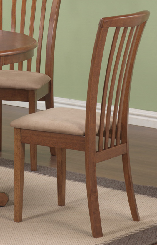 Coaster brannan dining chair maple 101092 at for Dining chairs for less
