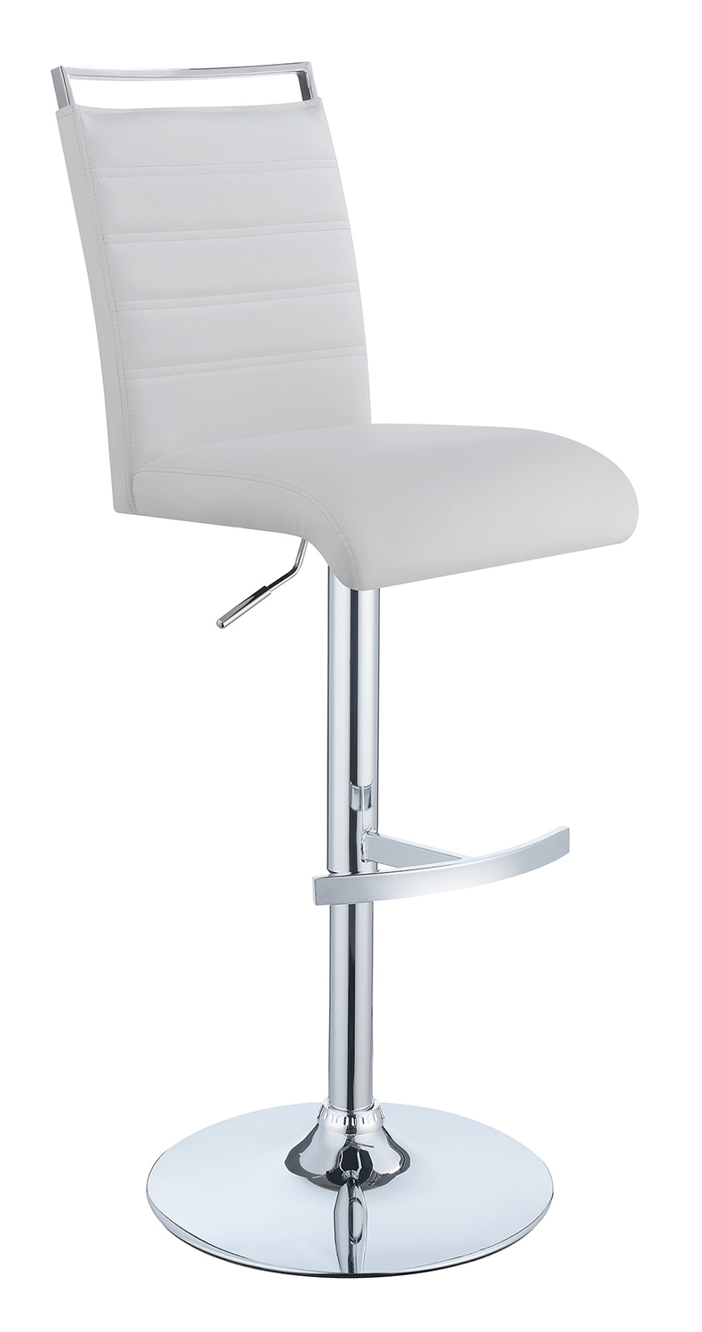 Coaster 101146 Adjustable Bar Stool - White/Chrome