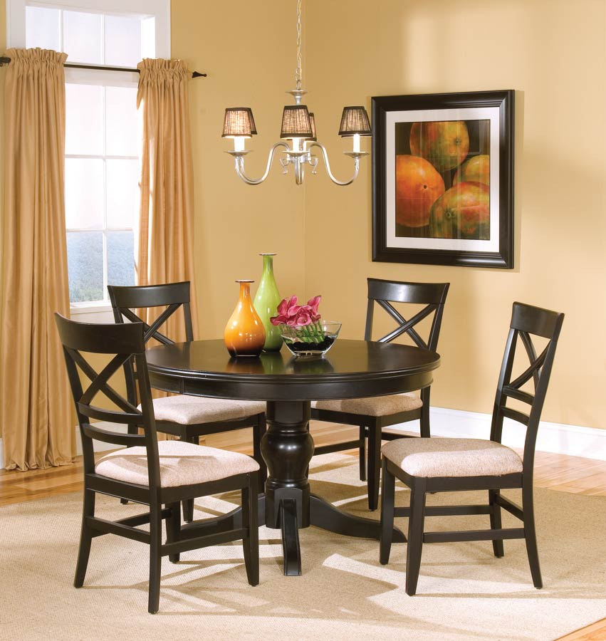 Coaster Sheldon Round Dining Collection - Black