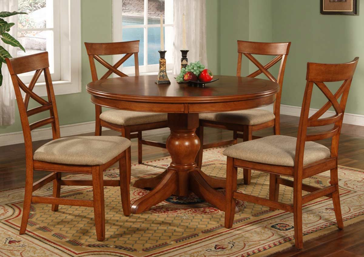 Coaster Sheldon Round Dining Table Walnut