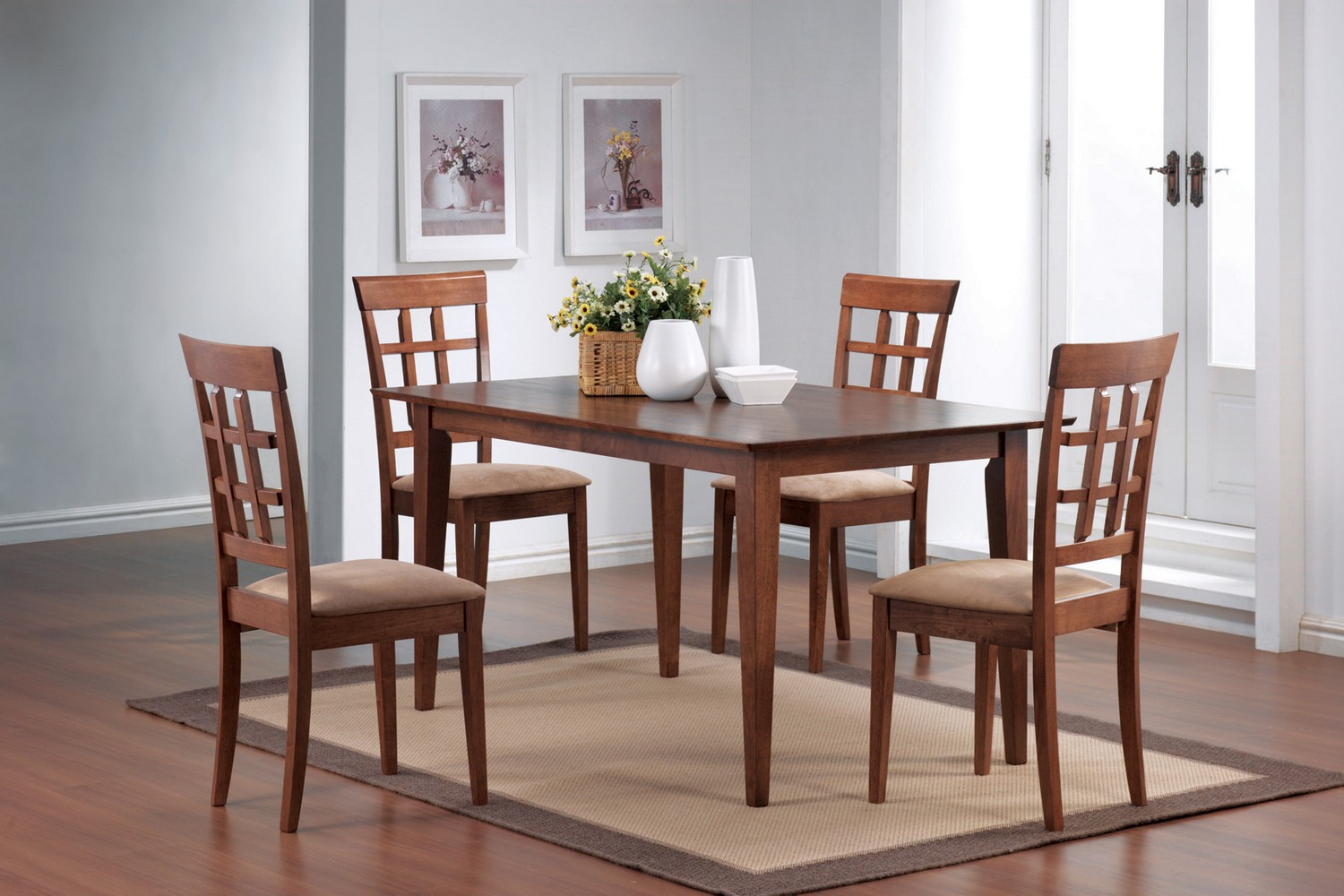 Coaster 101771 Dining Set - Chestnut