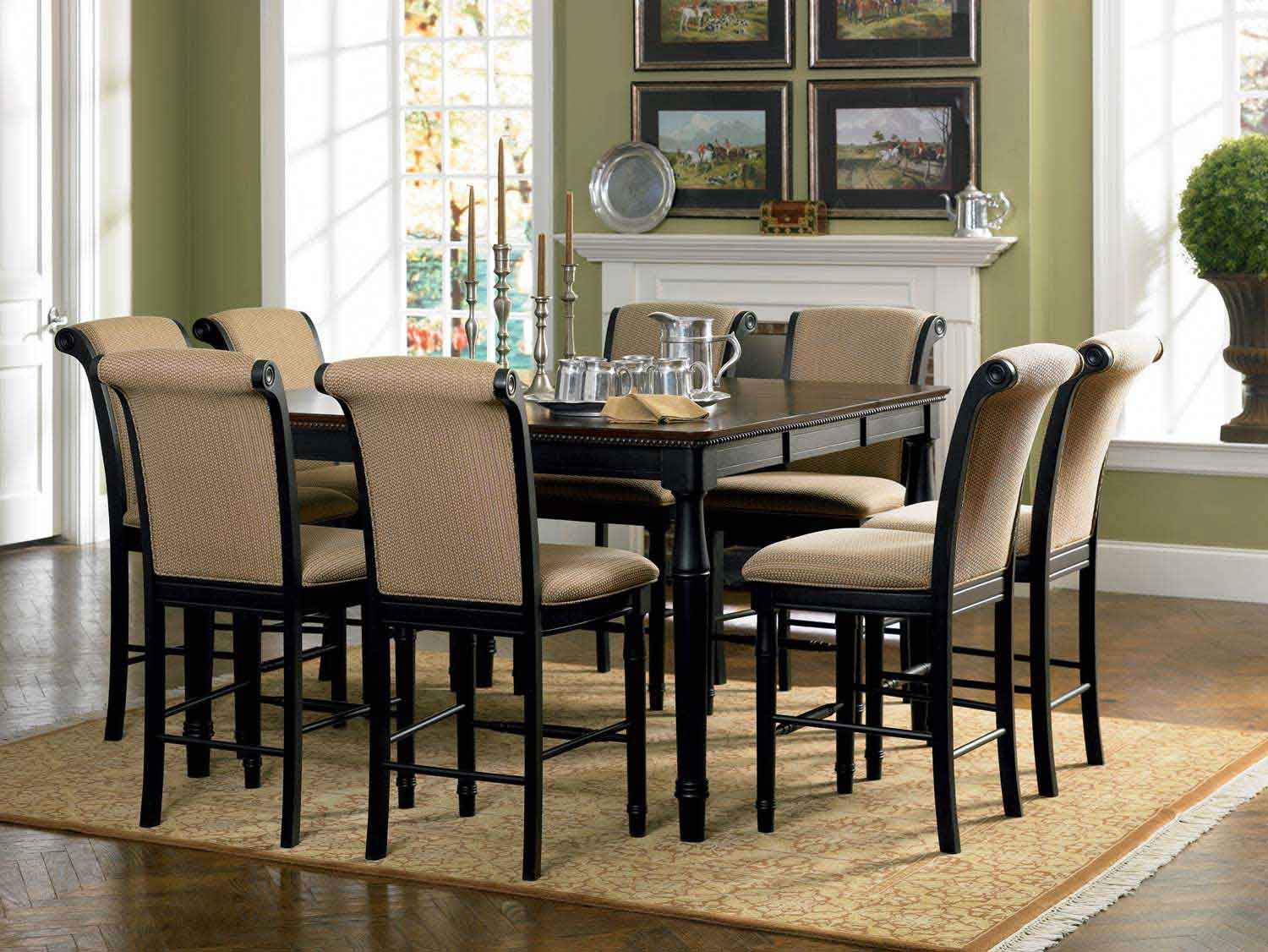 Superbe Coaster Cabrillo Counter Height Dining Set   Black Amaretto