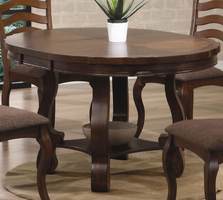 Coaster dining table with leaf 100 rectangular dining for Kitchen table with leaf insert