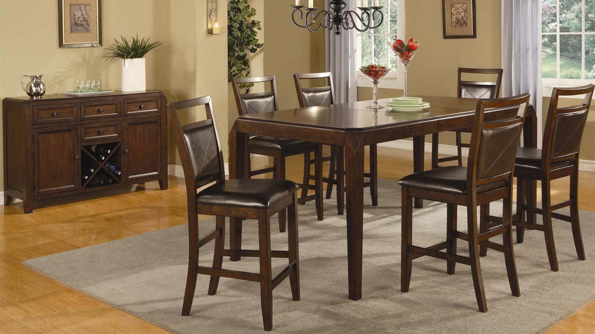 Counter Height Rectangular Dining Set : Coaster Lenox Rectangular Counter Height Dining Set LenoxDinSet ...