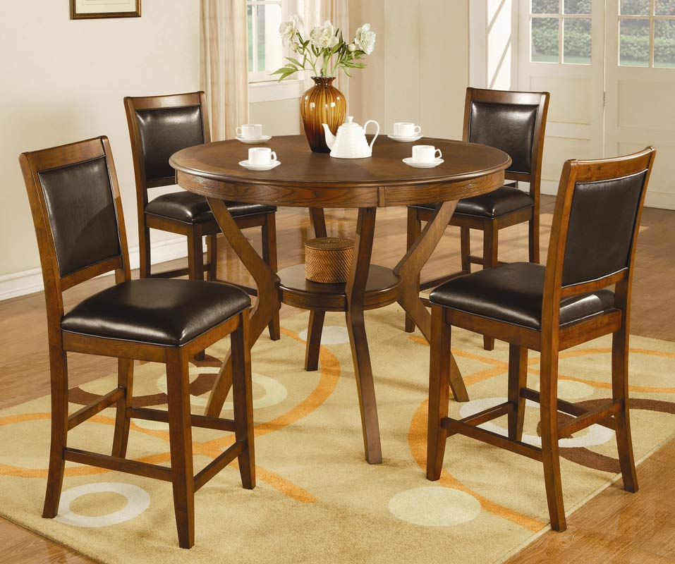Coaster nelms round counter height dining set