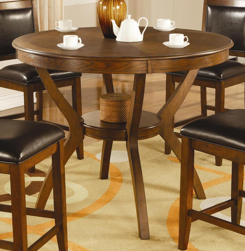 Counter Height Round Dining Set : Coaster Nelms Round Counter Height Dining Set NelmsCounterSet at ...