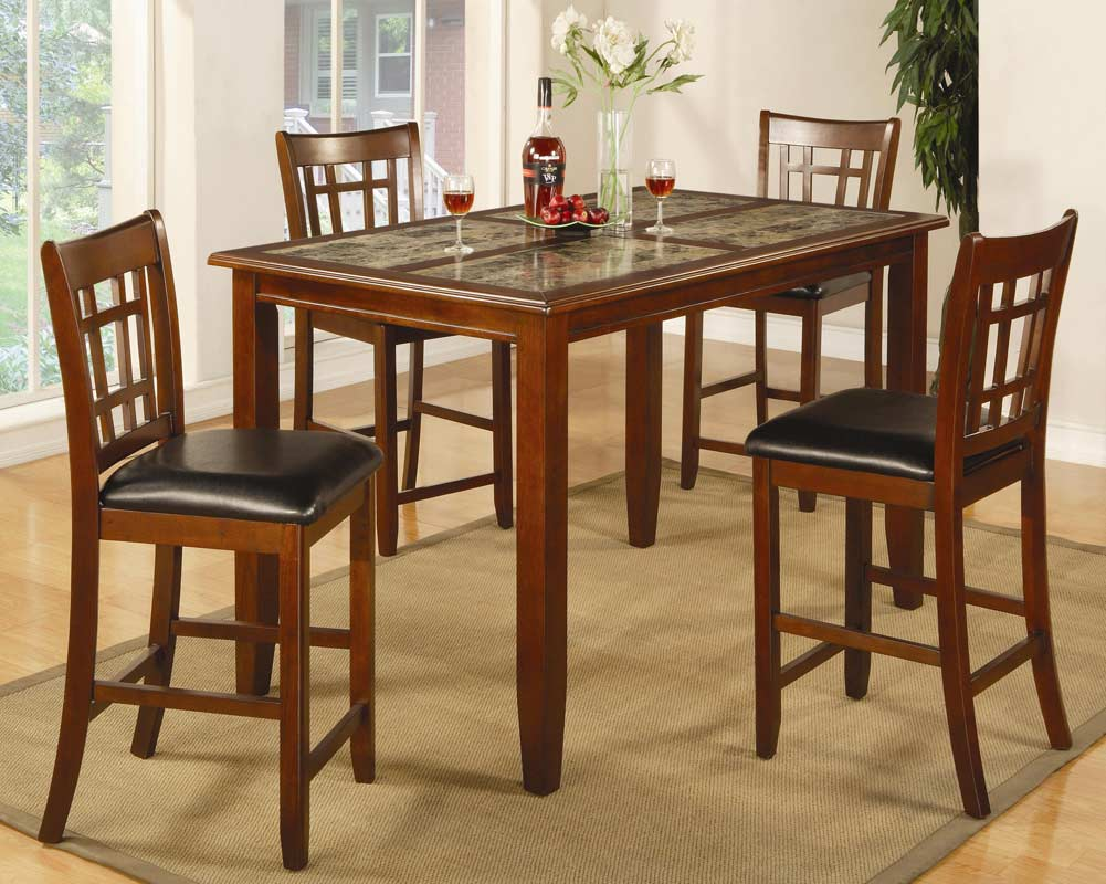 Coaster Buckingham Rectangular Counter Height Dining Set