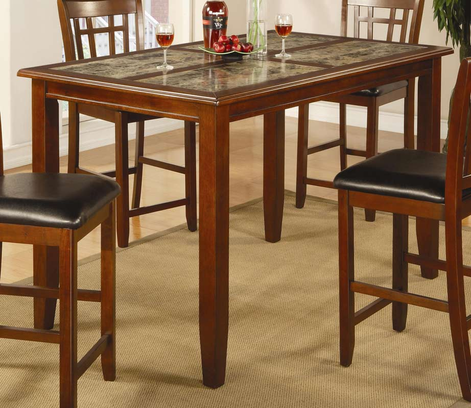 Coaster Lexton 101561 Rectangular Dining Table With 18: Coaster Buckingham Rectangular Counter Height Dining Set