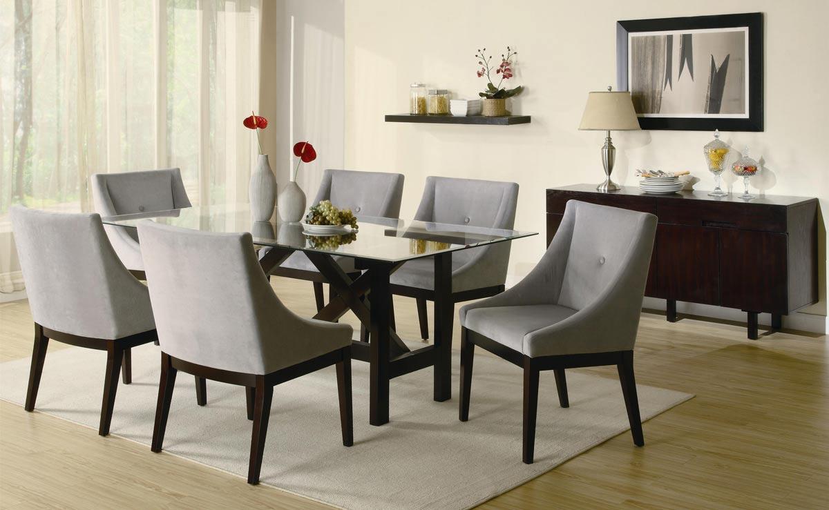 Coaster Alvarado Rectangular Glass Dining Set