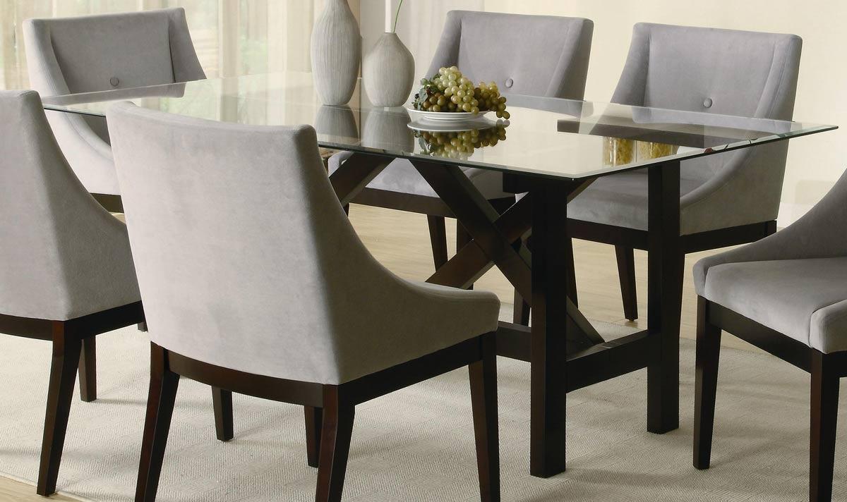 Coaster Alvarado Rectangular Glass Dining Table 102231 At Homelement Com