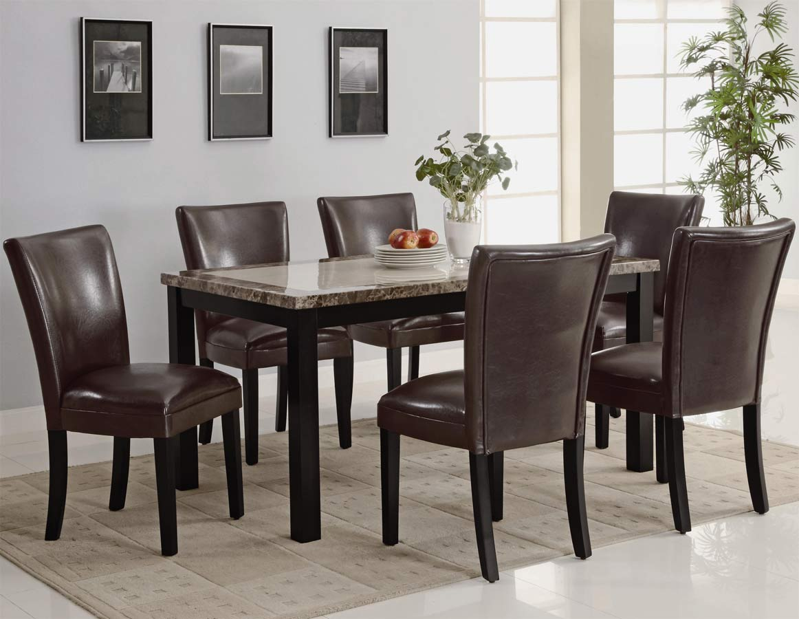 Coaster Carter Rectangular Marble Dining Set